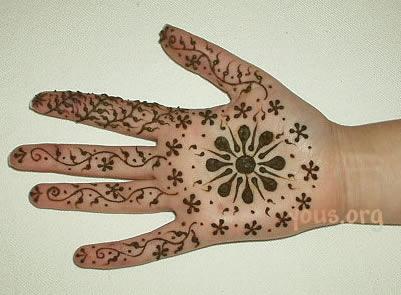 flower henna on hand