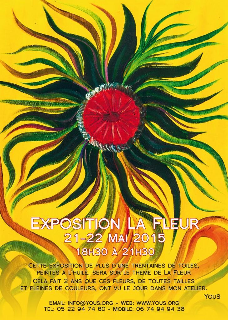 poster exposition La Fleur