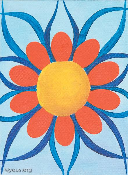 10 flower large sky blue